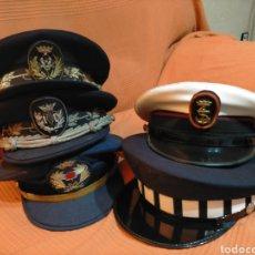 Militaria: GORRAS DE PLATO. COLECCIÓN 5 GORRAS DE PLATO -EJERCITO Y POLICÍA. Lote 281827568