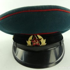 Militaria: ANTIGUA GORRA DE PLATO DE LA URSS COMUNISTA, UNION SOVIÉTICA TALLA 54. Lote 285221573