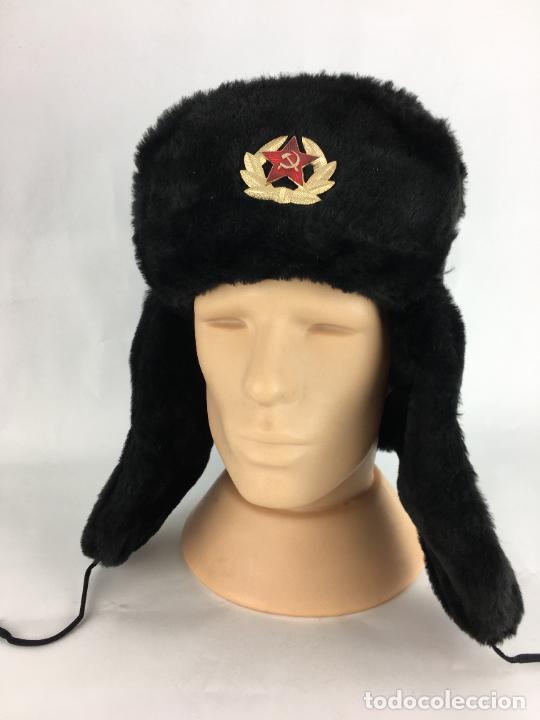 GORRA MILITAR SOVIÉTICA, USHANKA RUSA, URSS T.60 (Militar - Boinas y Gorras )