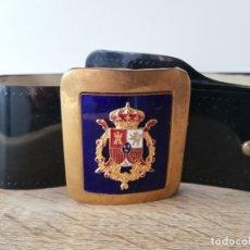 Militaria: CINTURÓN DE GALA DE LA GUARDIA REAL, CASA REAL. JUAN CARLOS I, ORIGINAL Y EN MUY BUEN ESTADO.. Lote 287467933
