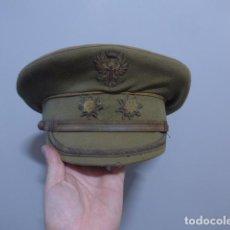 Militaria: ANTIGUA GORRA TENIENTE CORONEL MODELO ALEMAN DE VISERA INCLINADA AÑOS 40, TIPO DIVISION AZUL. FRANCO. Lote 289759203