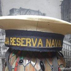 Militaria: GORRA MILITAR LEPANTO MARINA DECORACION NAUTICA MILICIA RESERVA NAVAL ANITGUA AÑOS 60 FIRMADA. Lote 290465953