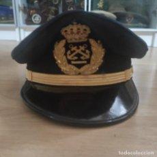 Militaria: ANTIGUA GORRA DE LA MARINA AÑOS 80, BORDADO PRECIOSO EN EL FRONTAL, ESTA NUEVA, T 56. Lote 291574903
