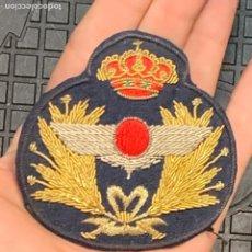 Militaria: GALLETA GORRA OFICIAL PLATO EJERCITO AIRE EPOCA JUAN CARLOS I BORDADO 7X7CMS. Lote 293637058