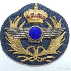 Militaria: GALLETA PARA GORRA DE AVIACION, CON ROKISKI METALICO CON CIRCULO AZUL, MIDE 7 X 6,5 CMS.. Lote 294160738