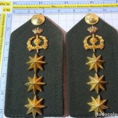 Militaria: HOMBRERAS MILITARES. PALAS DE INTENDENCIA. CORONEL EJÉRCITO ESPAÑOL. SEIS ESTRELLAS 8 PUNTAS.. Lote 294495423