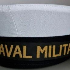 Militaria: GORRO O LEPANTO DE MARINERO DE LA ARMADA ESPAÑOLA. ESCUELA NAVAL MILITAR. TALLA 58. Lote 295546883