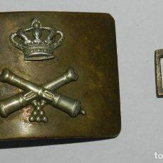 Militaria: HEBILLA ARTILLERIA ALFONSO XIII, MIDE 5,5 X 4 CMS.. Lote 296784968