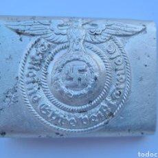 Militaria: ESPECTACULAR HEBILLA ORIGINAL WAFFEN SS ENCONTRADA EN CHERKASSY. Lote 297174768