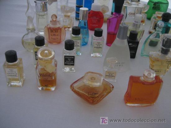 Miniaturas de perfumes antiguos: MAGNIFICA COLECCION DE 45 MINIATURAS DE PERFUMES DE MARCAS - EN SU MAYORIA PERFUMES FRANCESES - 8 - Foto 2 - 27115082
