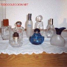 Miniaturas de perfumes antiguos: LOTE DE 8 FRASCOS VACIOS. Lote 122823739