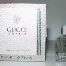 Miniaturas de perfumes antiguos: ANTIGUO FRASCO MINIATURA DE PERFUME CON SU CAJA TOTALMENTE ORIGINAL - GUCCI.. Lote 2913177