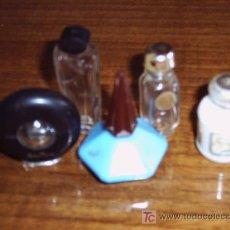 Miniaturas de perfumes antiguos: LOTE DE 5 MINIATURAS DE PERFUME (VACÍAS). Lote 23247057