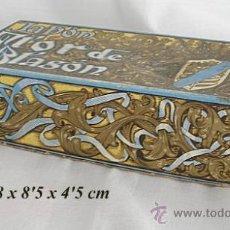 Miniaturas de perfumes antiguos: CAJA DE PERFUMERIA MYRURGIA JABON FLOR DE BLASON. Lote 23808858