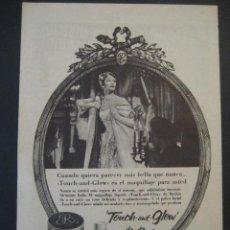 Miniaturas de perfumes antiguos: ANTIGUA PUBLICIDAD ANUNCIO COLONIAS, JABONES MAQUILLAJES REVLON. DE LOS AÑOS 50. . Lote 16911300