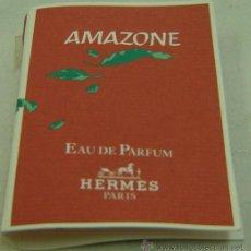 Miniaturas de perfumes antiguos: MUESTRA COMERCIAL EAU DE PARFUM AMAZONE-HERMES-LLENA. Lote 25953147
