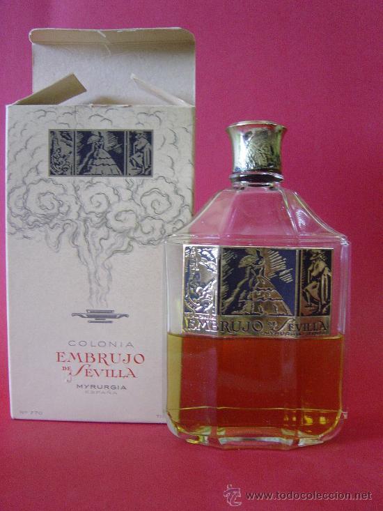 BOTELLA DE COLONIA MARCA EMBRUJO DE SEVILLA (Miniaturas de Perfumes.)