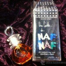 Miniaturas de perfumes antiguos: FRASCO DE COLONIA NAF NAF DESCATALOGADA EAU TOILETTE NAF NAF 50 ML. SPRAY . Lote 108876283