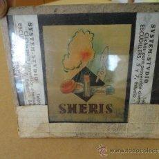 Miniaturas de perfumes antiguos: CLICHE CRISTAL PARA PROYECCION CINEMATOGRAFICA SYSTEM STUDIO PUBLICIDAD PERFUME SHERIS. Lote 32594634