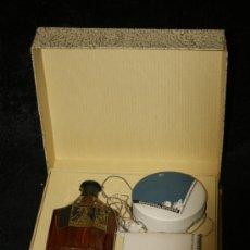 Miniaturas de perfumes antiguos: ANTIGUO PAQUETE DE PERFUMERIA MYRURGIA, COMPLETO. MADERA DE ORIENTE. . Lote 34072421