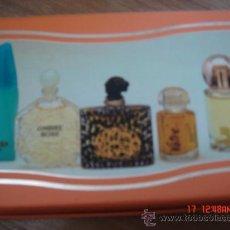 Miniaturas de perfumes antiguos: MINIATURAS SOCIETE GENERALE DE PARFUMERIE-MONTECARLO. LIAGORA/OMBRE ROSE/VOTRE/YVAN&MARIA/SWEET COUR. Lote 34194729