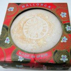 Miniaturas de perfumes antiguos: JABON FLOR DE ALMENDRA - MALLORCA - ROVER CON ACEITE DE ALMENDRAS. Lote 37465366