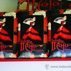 Miniaturas de perfumes antiguos: CAJA AÑOS 60 CON 3 GRANDES JABONES 150GR MAJA MYRURGIA ESPAÑA . Lote 37753195