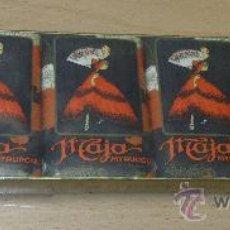 Miniaturas de perfumes antiguos: ANTIGUO ESTUCHE 6 JABONES MAJA MYRURGIA BARCELONA. Lote 38842559