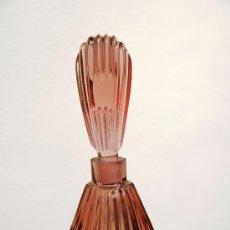 Miniaturas de perfumes antiguos: ANTIGUO FRASCO DE PERFUME CRISTAL DE ROCA ROSADO VIOLETA. Lote 39005926