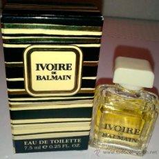 Miniaturas de perfumes antiguos: MINI BOTELLA DE COLONIA IVOIRE DE BALMAIN DE 7 M/L.. Lote 39124753