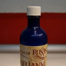 Miniaturas de perfumes antiguos: AGUA DE ROSAS BELIANNE DE LABORATORIOS SADEF, S.A. BARCELONA 1960 - PLÁSTICO DURO - 17 CM. * 5 CM.. Lote 41727023