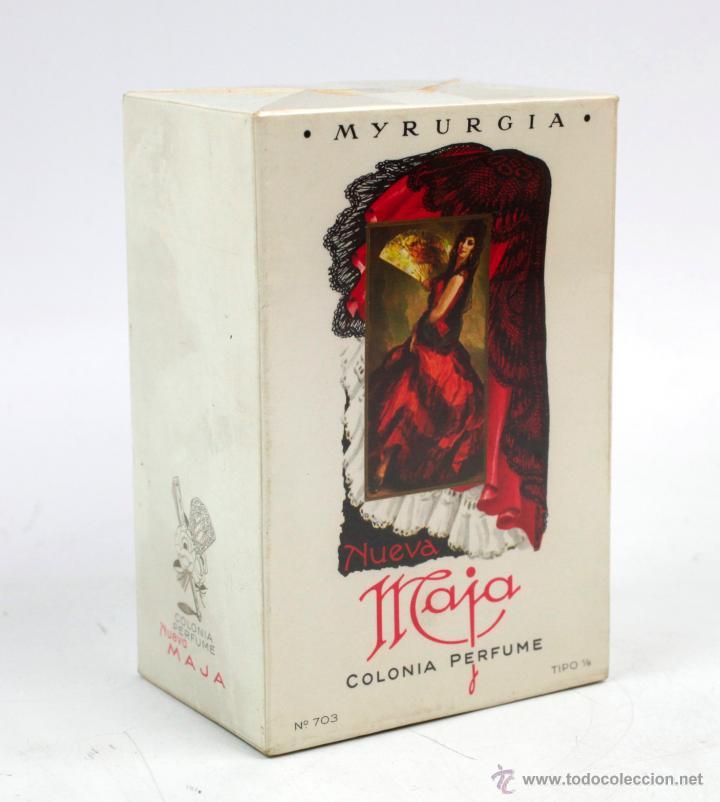 COLONIA MAJA, MYRURGIA. BOTELLA EN CAJA PRECINTADA 1960'S. CAJA GRANDE 11,5 CM ALTO (Coleccionismo - Miniaturas de Perfumes)