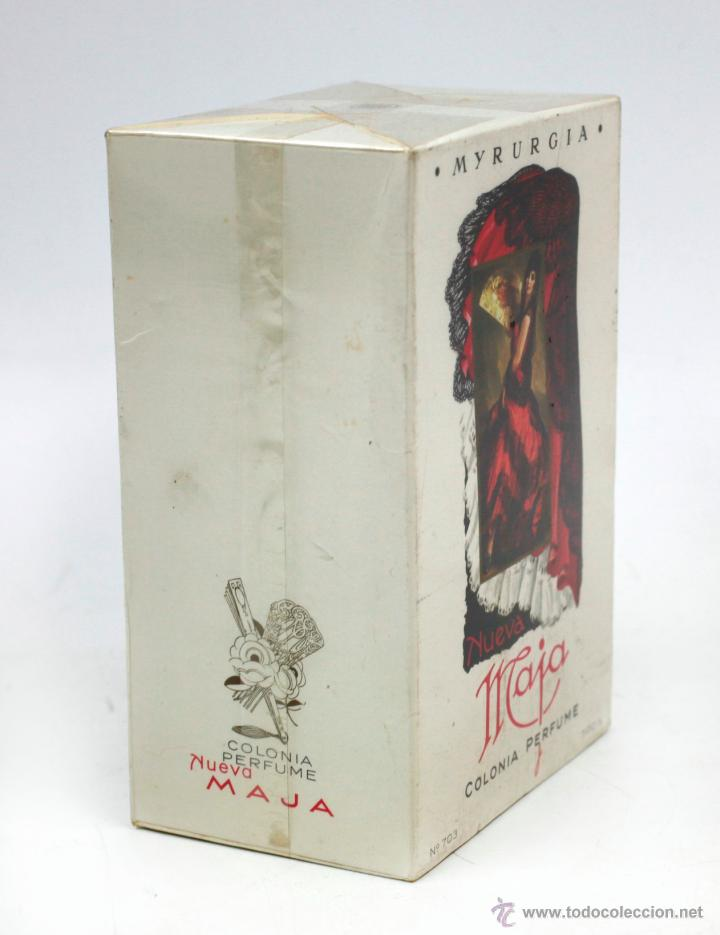 Miniaturas de perfumes antiguos: COLONIA MAJA, MYRURGIA. BOTELLA EN CAJA PRECINTADA 1960S. CAJA GRANDE 11,5 CM ALTO - Foto 2 - 41796739