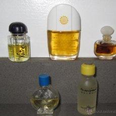 Miniaturas de perfumes antiguos: 5 MINIATURAS DE PERFUMES COLECCION. Lote 41981050