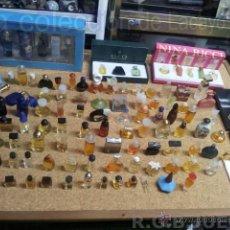 Miniaturas de perfumes antiguos: COLECCION DE 120 PERFUMES MINIATURAS GRANDES MARCAS Y ANTIGUOS. Lote 42809244
