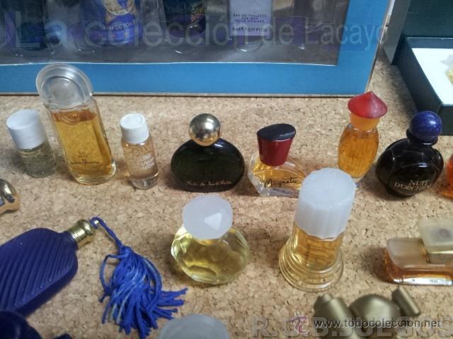 Miniaturas de perfumes antiguos: COLECCION DE 120 PERFUMES MINIATURAS GRANDES MARCAS Y ANTIGUOS - Foto 7 - 42809244