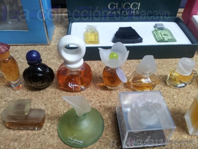 Miniaturas de perfumes antiguos: COLECCION DE 120 PERFUMES MINIATURAS GRANDES MARCAS Y ANTIGUOS - Foto 8 - 42809244