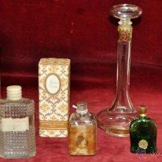 Miniaturas de perfumes antiguos: LOTE DE 10 BOTELLAS DE PERFUME ANTIGUAS, VARIOS MODELOS Y AÑOS. Lote 114979546