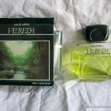 Miniaturas de perfumes antiguos: COLONIA VEREDA 100 ML. Lote 45412859