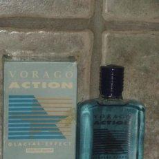 Miniaturas de perfumes antiguos: VORAGO ACTION,MYRURGIA.AFTER SHAVE 100 ML,CON SU CAJA ORIGINAL.DESCATALOGADA.. Lote 45678095