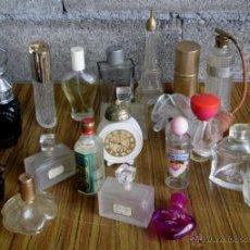 Miniaturas de perfumes antiguos: LOTE DE 21 PERFUMEROS . Lote 117676000