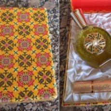 Miniaturas de perfumes antiguos: ESTUCHE MYRNA PONS BOTE DE COLONIA CON BARRA LABIOS A ESTRENAR . Lote 49210554