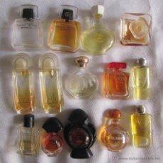 Miniaturas de perfumes antiguos: 14 MINIATURAS DE PERFUMES. Lote 50093092