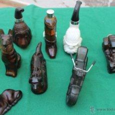 Miniaturas de perfumes antiguos: LOTE DE 9 ENVASES DE COLONIA DE AVON AÑOS 70-80 EN CRISTAS. Lote 50176626