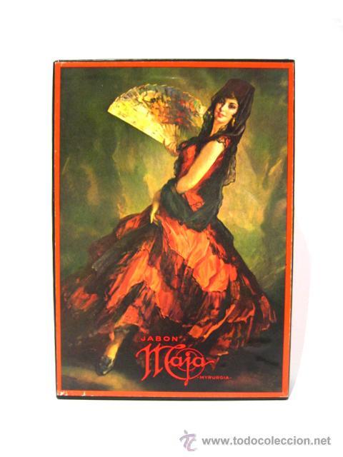 Miniaturas de perfumes antiguos: CAJA DE COLONIA Y JABÓN MAJA DE MYRURGIA + 2 CAJAS JABON VACIAS - Foto 4 - 46417215