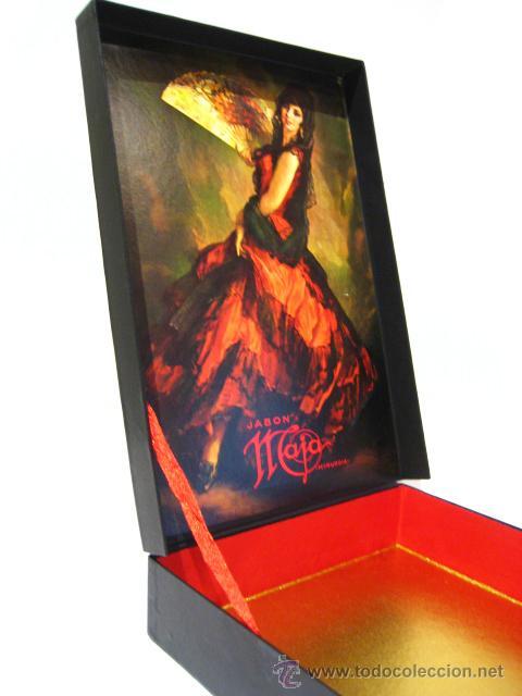 Miniaturas de perfumes antiguos: CAJA DE COLONIA Y JABÓN MAJA DE MYRURGIA + 2 CAJAS JABON VACIAS - Foto 8 - 46417215