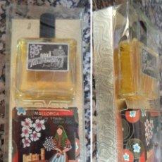 Miniaturas de perfumes antiguos: ANTIGUO ESTUCHE DE COLONIA FLOR D´AMETLER MAYORCA BERNAT VALLORY CON UNA PASTILLA JABÓN PERFUMADO . Lote 54436100