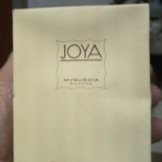 Miniaturas de perfumes antiguos: BOTELLA DE COLONIA JOYA DE MYRURGIA. Lote 54574024