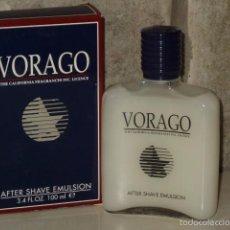 Miniaturas de perfumes antiguos: VORAGO,MASAJE AFTER SHAVE,FABRICADO POR MYRURGIA DESCATALOGADO.. Lote 55808926
