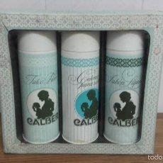 Miniaturas de perfumes antiguos: ESTUCHE CAJA HIGIENICOS CALBER - COLONIA JABON TALCO. Lote 55871178